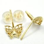 K18 ピアス 蝶々 Pt900 メレダイヤ付き指輪 他 買取実績のご紹介