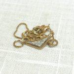 金 K18・K18WG メレダイヤ付き ネックレス 買取実績のご紹介