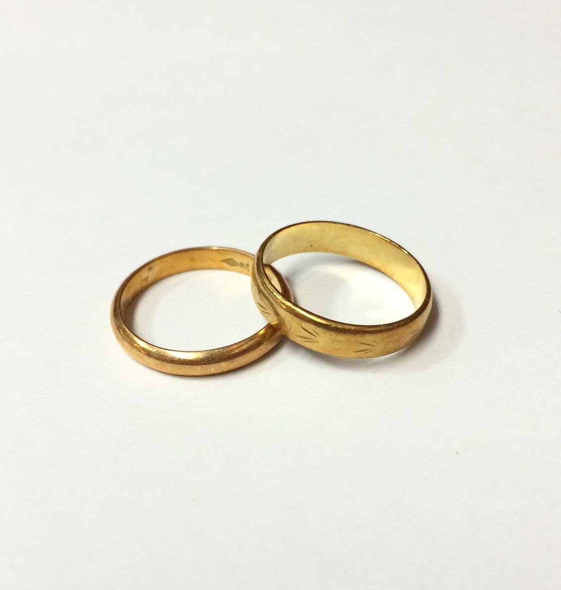金 K18 指輪2点 買取実績のご紹介