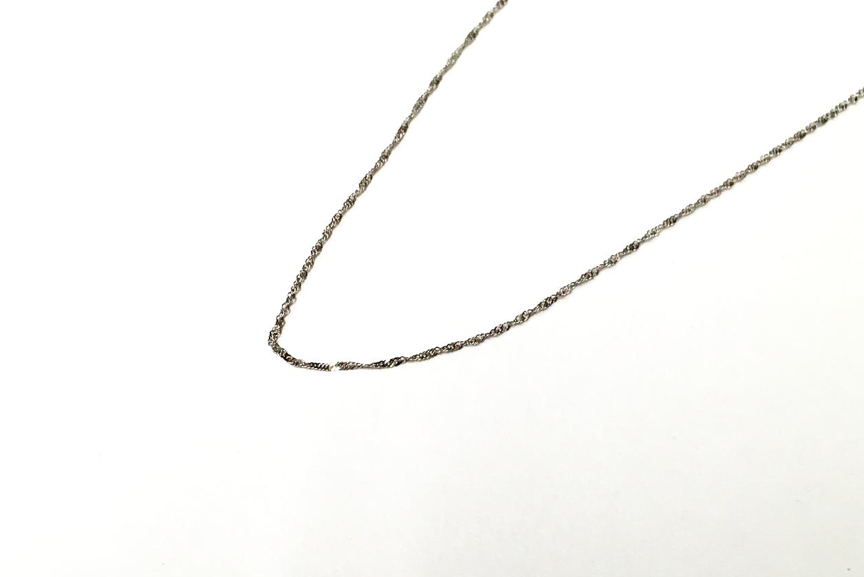 金 K18 ホワイトゴールドネックレス 買取実績のご紹介